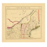 1827, Maine, Massachusetts, New Hampshire, New York, Vermont Giclee Print