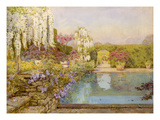 The swimming pool, Dyffryn Giclee Print by Edith Helena Adie