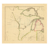 1812, Wisconsin, Ohio, Michigan, Indiana, Illinois Giclee Print