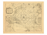 1773, Chart, West Indies, Atlantic Ocean Giclee Print
