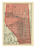 1928, Alberta Province, Canada Giclee Print