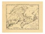 1796, Maine, New Brunswick, Nova Scotia, Prince Edward Island Giclee Print