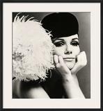 Nicole de la Marge in a Peter Shepherd Velvet Cap, 1965 Framed Giclee Print by John French