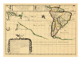 1679, South America Giclee Print