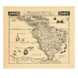 1593, South America Giclee Print