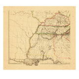 1812, Alabama, Georgia, Kentucky, Louisiana, Mississippi, Tennessee Giclee Print