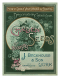 Garden Seeds and Requisites Giclee Print by J. J Backhouse and Son