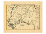 1778, Alabama, Florida, Louisiana, Mississippi, North Carolina Giclee Print