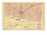 1876, Oxford Townships - North and West, Beachville, Centreville, Swearborg, Canada Giclee Print