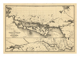 1876, Ontario Province - Railway and Postal Map 4, Canada Giclee Print