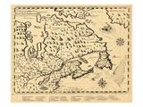 1613, Ontario, Nova Scotia, Newfoundland and Labrador, New Brunswick, Quebec, Prince Edward Island Giclee Print