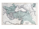 1878, The Ottoman Empire, Kingdom of Greece, Black Sea Giclee Print