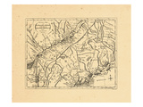 1778, New York, Maine, Massachusetts, New Hampshire, New York, Quebec, Vermont, World Giclee Print