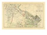 1891, Washington DC, Virginia, Civil War Reproduction procédé giclée