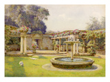 The Fountain Court Giclee Print by Edith Helena Adie