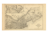 1876, Oxford County Map - Railroad connecting with United States, Canada Giclee Print