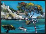 Promenade Dans Les Calanques Framed Canvas Print by Roger Keiflin