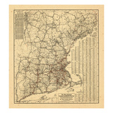 1909, Connecticut, Massachusetts, New Hampshire, Rhode Island, Vermont, Maine Giclee Print
