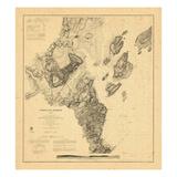 1866, Portland Harbor, Maine Giclee Print