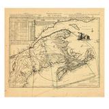 1762, Canada, New Brunswick, Nova Scotia, Prince Edward Island Giclee Print