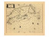 1666, New Brunswick, Newfoundland and Labrador, Nova Scotia, Prince Edward Island Giclee Print
