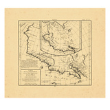 1772, British Columbia, California, Oregon, Washington, Yukon Territory Giclee Print