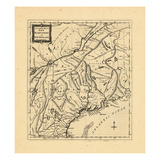 1781, New England, Maine, New Hampshire Giclee Print