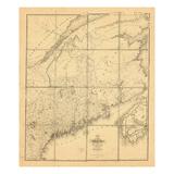 1844, Maine, New Brunswick Giclee Print