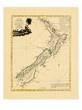 1778, New Zealand Impressão giclée