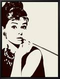 Audrey Hepburn-Cigarello Framed Canvas Print