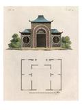 Oriental garden room and plan Reproduction procédé giclée par Johann Gottfried Grohmann