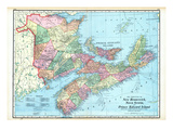 1906, New Brunswick, Nova Scotia, And Prince Edward Island - Provinces Giclee Print
