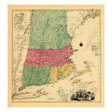 1776, Connecticut, New Hampshire, Rhode Island, Vermont, Massachusetts Giclee Print