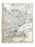 1879, Ontario - Counties - Grey, Simcoe, Ontario, Victoria, York, Peel, Wellington Giclee Print