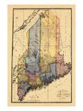 1820, Maine Giclee Print