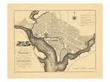1795, Washington DC Reproduction procédé giclée