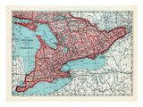 1928, Ontario Province, Canada Giclee Print
