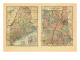 1891, Maine, New Hampshire, Vermont Giclee Print