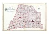 1879, Middlesex County Map, Canada Giclee Print