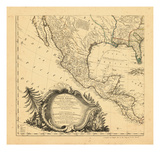 1761, Mexico, Central America Reproduction procédé giclée