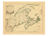 1775, New Brunswick, Massachusetts, Nova Scotia, Maine, Newfoundland and Labrador, New Hampshire Giclee Print