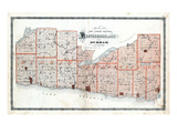 1878, Cumberland, Durham County Map, Canada Giclee Print