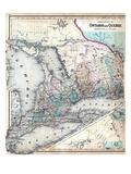 1860, Ontario and Quebec Provinces, Canada Giclee Print