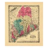 1869, Maine Giclee Print