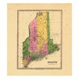 1824, Maine Giclee Print