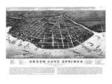 1885, Green Cove Springs Bird's Eye View, Florida, United States Giclee Print