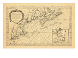 1757, Maine, Massachusetts, New Brunswick, Nova Scotia, Prince Edward Island Giclee Print
