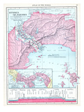 1913, Panama, Central America, Isthmus of Panama Reproduction procédé giclée