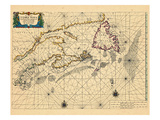 1663, New Brunswick, Nova Scotia, Prince Edward Island Giclee Print