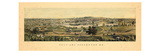 1855, Saco and Biddeford, Maine Giclee Print